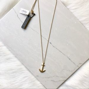 J. Crew Jewelry - J. Crew Long Gold Anchor Necklace